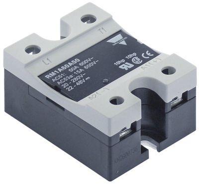 ρελέ ισχύος CARLO GAVAZZI  φάσεις 1 50A 600V 22-48VDC  Μ 58mm W 45mm βίδα τύπος RM1A60A50