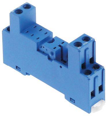 υποδοχή ρελέ ράγα DIN σύνδεσμος βίδα διαστάσεις 80x46x15 mm 300V τάση AC  10A FINDER