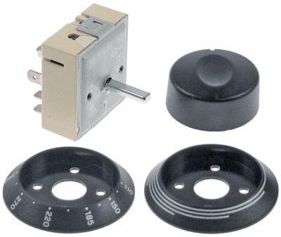 ζημενστάτης 240V 13A με σετ κομβίων κατεύθυνση περιστροφής δεξιά ø άξονα 6x4,6 mm