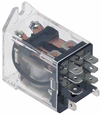 ρελέ OMRON  24VDC  10A 2CO  σύνδεσμος F4,8  στερέωση βραχίονα αρ. κατασκευαστή LY2F 24DC