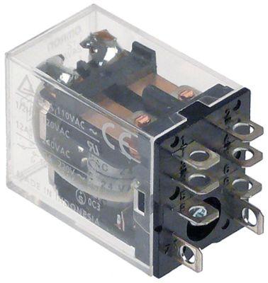 ρελέ OMRON  24VAC  10A 2CO  σύνδεσμος F4,8  στερέωση βραχίονα αρ. κατασκευαστή LY2 24VAC