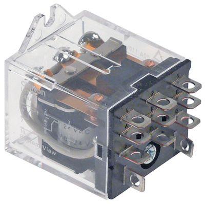ρελέ OMRON  24VAC  10A 3CO  σύνδεσμος F4,8  στερέωση βραχίονα αρ. κατασκευαστή LY3F AC24