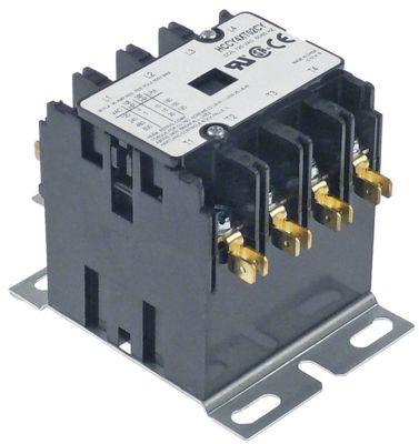 ρελέ ισχύος ωμικό φορτίο 40A 110/120VAC  30A/10 HP (AC3/240V) 30A/7,46 kW κύριες επαφές 4NO