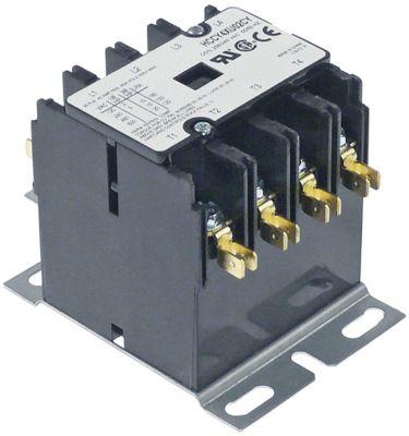 ρελέ ισχύος ωμικό φορτίο 40A 208/240VAC  30A/10 HP (AC3/240V) 30A/7,46 kW κύριες επαφές 4NO