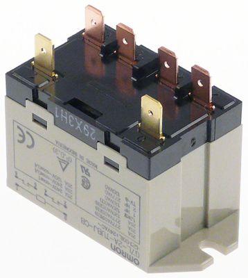 ρελέ ισχύος OMRON  24VAC  25A 2NO  σύνδεσμος F6,3  στερέωση βραχίονα στα 250V 25A