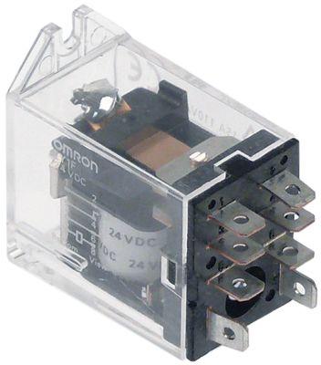 ρελέ OMRON  24VDC  15A 1CO  σύνδεσμος F4,8  στερέωση βραχίονα αρ. κατασκευαστή LY1F DC24