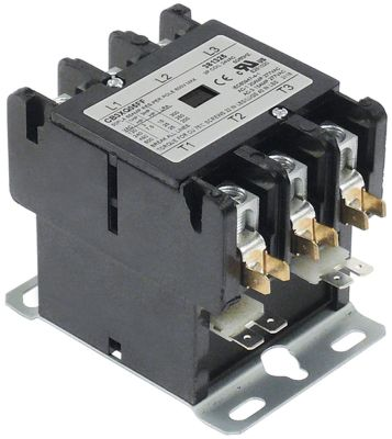 ρελέ ισχύος ωμικό φορτίο 65A 24VAC  50A/15 HP (AC3/240V) 50A/11,19 kW κύριες επαφές 3NO