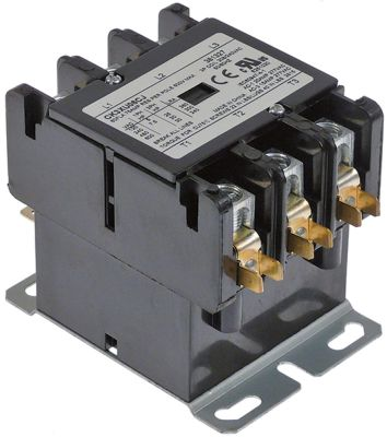 ρελέ ισχύος ωμικό φορτίο 75A 208/240VAC  60A/25 HP (AC3/240V) 60A/18,5 kW κύριες επαφές 3NO