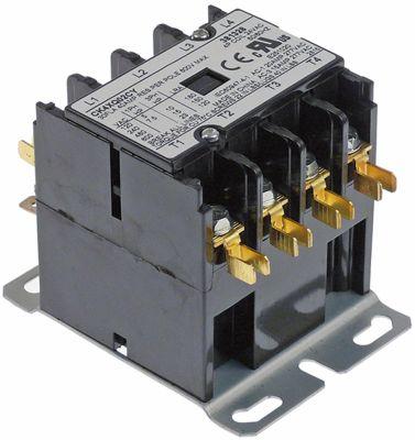 ρελέ ισχύος ωμικό φορτίο 40A 24VAC  30A/10 HP (AC3/240V) 30A/7,46 kW κύριες επαφές 4NO