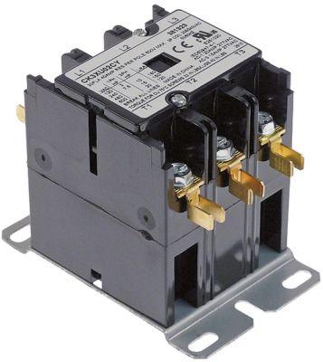 ρελέ ισχύος ωμικό φορτίο 40A 208/240VAC  30A/10 HP (AC3/240V) 30A/7,46 kW κύριες επαφές 3NO