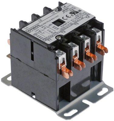 ρελέ ισχύος ωμικό φορτίο 50A 24VAC  40A/10 HP (AC3/240V) 40A/7,46 kW κύριες επαφές 4NO