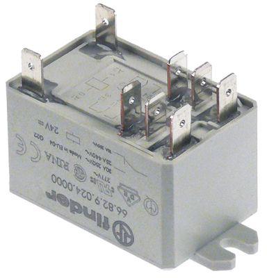 ρελέ ισχύος FINDER  24VDC  30A 2CO  σύνδεσμος F6,3  διαστάσεις 34x52 mm