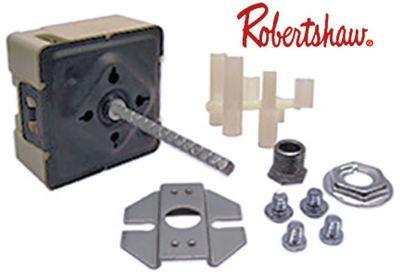ζημενστάτης ROBERTSHAW  240V 15A μονού κυκλώματος κατεύθυνση περιστροφής αριστερά ø άξονα 3,5x3,5 mm