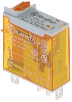 ρελέ FINDER  230VAC  16A 1CO  σύνδεσμος αρσενικό εξάρτημα 4,8mm φλάντζα
