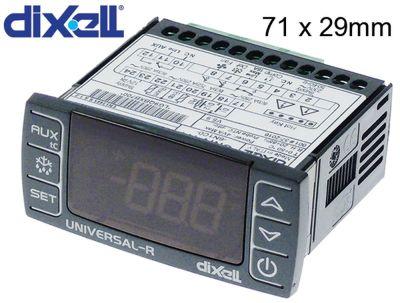 ηλεκτρονικός ελεγκτής DIXELL  τύπος UNIVERSAL-R4  μετρήσεις στερέωσης 71x29 mm 230/12V τάση AC/DC