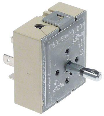 ζημενστάτης 240V 13A κατεύθυνση περιστροφής αριστερά ø άξονα 6x4 mm