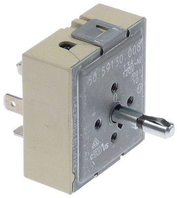 ζημενστάτης 120V 13A μονού κυκλώματος κατεύθυνση περιστροφής αριστερά ø άξονα 6x4 mm