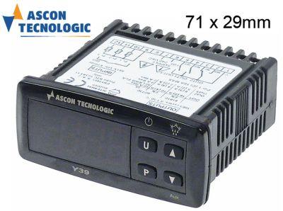ηλεκτρονικός ελεγκτής TECNOLOGIC  τύπος Y39 μετρήσεις στερέωσης 71x29 mm 100-240 V τάση AC