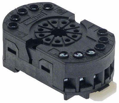 υποδοχή ρελέ ZM11 σύνδεσμος σύνδεση plug-in, στρογγυλό βύσμα 11 πόλων
