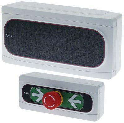 συσκευή συναγερμού AKO  τύπος 230V τάση AC  έξοδοι ρελέ 1 CO  μετρήσεις πρόσοψηςmm