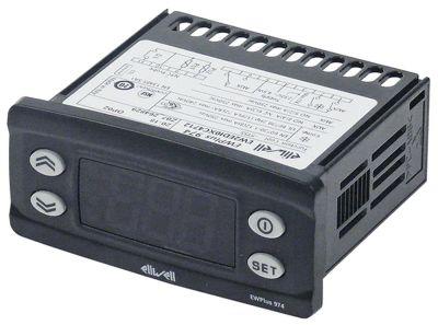 ηλεκτρονικός ελεγκτής ELIWELL  τύπος EWPlus 974  μοντέλο EW2EDI0XC4712 μετρήσεις στερέωσης 71x29 mm