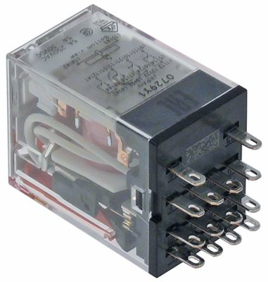 power relays OMRON 24VAC 5A 4CO plug-in connection at 250V 5A manuf. no. MY4IN (S)