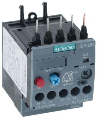 διακόπτης υπερφόρτωσης εύρος ρύθμισης 1,4-2,0 A βιδωτή σύνδεση 3RU2116-1BB0 (AC3/400V) 0,75kW