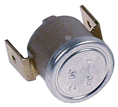 θερμοστάτης επαφής θερμ. απενεργοποίησης 130°C 1NC  1-πόλοι 42644A 250V σύνδεσμος F6,3