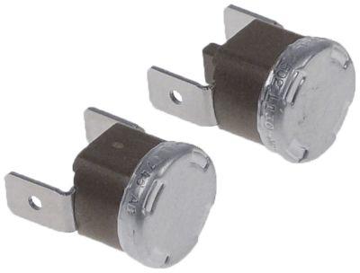 θερμοστάτες ασφαλείας επαφής NC  1-πόλοι σύνδεσμος αρσενικό εξάρτημα 6,3mm κατακόρυφο