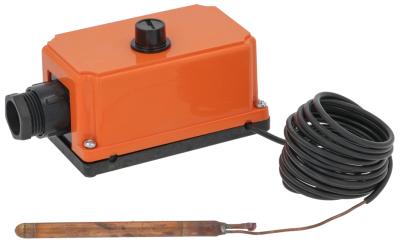 θερμοστάτης ασφαλείας θερμ. απενεργοποίησης 80°C 1-πόλοι 1CO  ø αισθητηρίου 5mm Μ αισθητηρίου 131mm