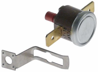 bi-metal thermostat switch-off temp. 185°C 1NC 1-pole 16A 250V connection F6.3