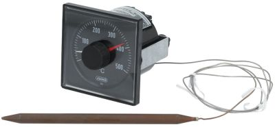 thermostat t.max. 500°C temperature range 0-500°C 1CO 5A probe ø 8mm probe L 140mm