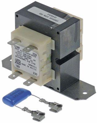 μετασχηματιστής κύρια τάση 230VAC  δευτερεύον 120VAC  δευτερεύον 4A 60Hz