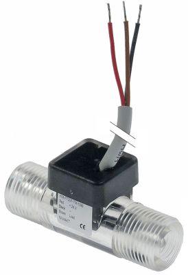 αισθητήρας ροής 24V σύνδεσμος 3/8″  Μ 55mm ø εισόδου 16,5mm ø εξόδου 16,5mm 7m