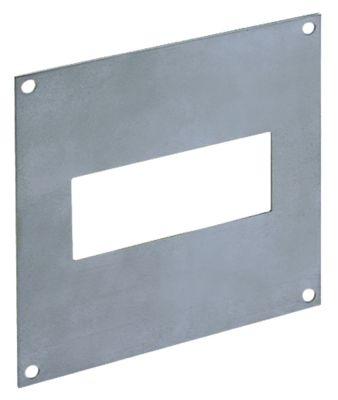 πλάκα συναρμολόγησης Ανοξείδωτο ατσάλι αποκοπή 71x29 mm διαστάσεις 110x110 mm