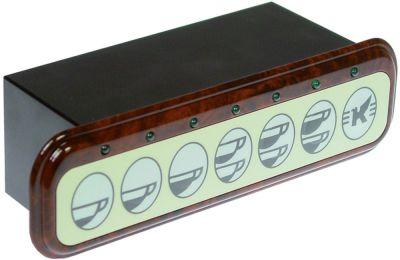 πληκτρολόγιο κουμπιά 7 καφέ τύπος DOS TG 1GR+RL  230V
