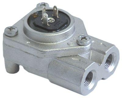 ροομετρητής σπείρωμα 1/8″  ανοξείδωτος χάλυβας με LED έγκριση NSF  σύνδεση plug-in