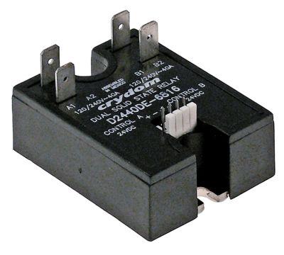 ρελέ CRYDOM  φάσεις 2 40A 120-240 V 24VDC  Μ 59mm W 46mm σύνδεση plug-in τύπος D2440DE-6816