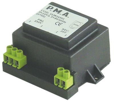 μετασχηματιστής κύρια τάση 230VAC  δευτερεύον 24VAC  10VA δευτερεύον 0.4A