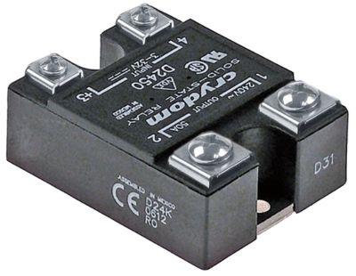 ρελέ CRYDOM  φάσεις 1 50A 240V 3-32VDC  Μ 59mm W 46mm κιτ βίδα τύπος D2450