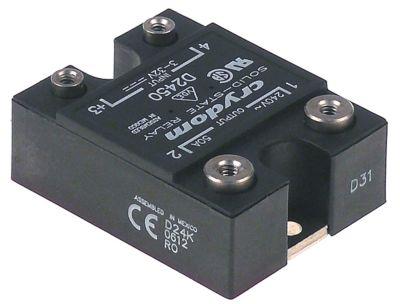 ρελέ CRYDOM  φάσεις 1 50A 24-280 V 3-32VDC  Μ 59mm W 46mm βίδα τύπος D2450