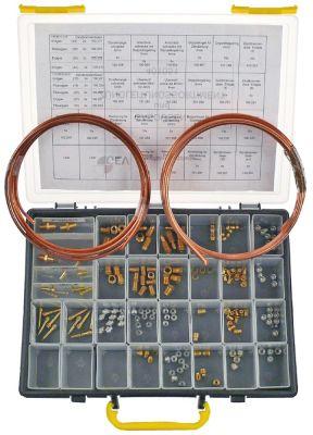 τσάντα ακροφύσια αερίου και γραμμές ανάφλεξης 8x διάφορα ακροφύσια καυστήρα φυσικού αερίου