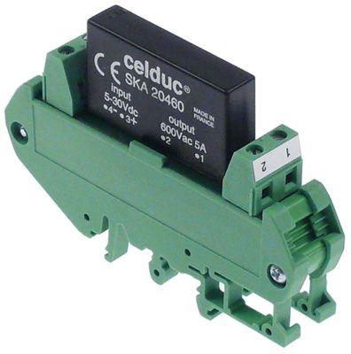ρελέ CELDUC  φάσεις 1 5A 600V 5-30VDC  Μ 90mm W 12mm για κυλινδρική ράγα βίδα τύπος SKA20460