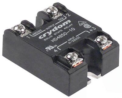 ρελέ CRYDOM  φάσεις 1 50A 600V 4-32VDC  Μ 59mm W 46mm βίδα τύπος HD4850-10