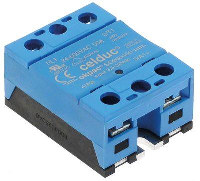 ρελέ CELDUC  φάσεις 1 50A 12-280 V 3-32VDC  Μ 58mm W 45mm βίδα τύπος SO945460