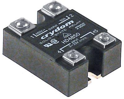 ρελέ CRYDOM  φάσεις 1 50A 480V 3-32VDC  Μ 58mm W 45mm βίδα τύπος HD4850