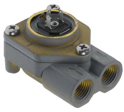 ροομετρητής σπείρωμα 1/4″  ορείχαλκος με LED έγκριση NSF  με τσιμούχα σύνδεση βύσματος