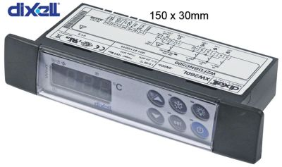 ηλεκτρονικός ελεγκτής DIXELL  XW260L-5N0C0 μετρήσεις στερέωσης 150x30 mm