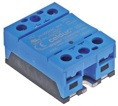ρελέ CELDUC  1 φάση 60A 24-600 V 3-32VDC  Μ 58mm W 45mm βίδα τύπος SO965460