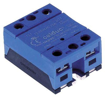 ρελέ CELDUC  φάσεις 1 25A 12-280 V 3-32VDC  Μ 59mm W 46mm βίδα τύπος SO942460